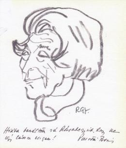 Rózsahegyi György - Palotai Boris író, költő portréja (1970-es évek)