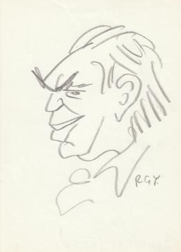 Rózsahegyi György - Romhányi József író, költő portréja