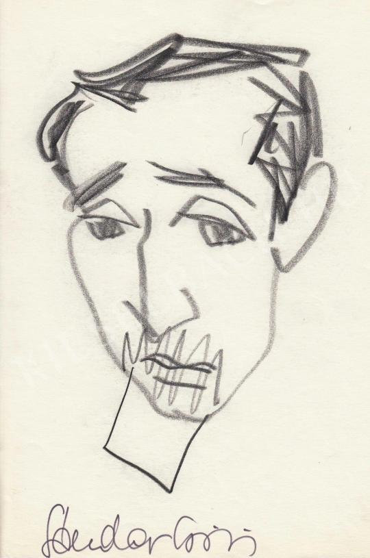 Eladó  Rózsahegyi György - Sándor György író, költő portréja festménye