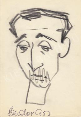 Rózsahegyi György - Sándor György író, költő portréja (1970-es évek)