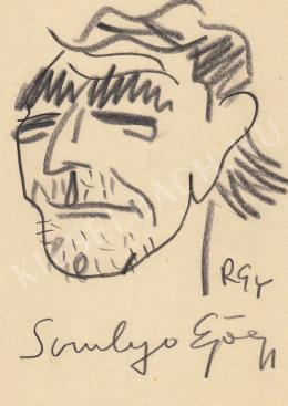 Rózsahegyi György - Somlyó György író, költő portréja