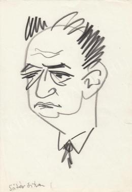 Rózsahegyi György - Sőtér István író portréja (1970-es évek)