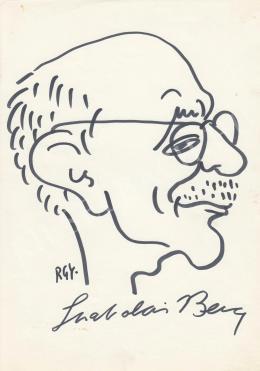 Rózsahegyi, György - Portrait of Bence Szabolcsi Music historian