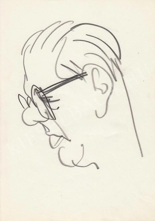 For sale  Rózsahegyi, György - Portrait of László Tabi Editor, Humorist, Editor 's painting