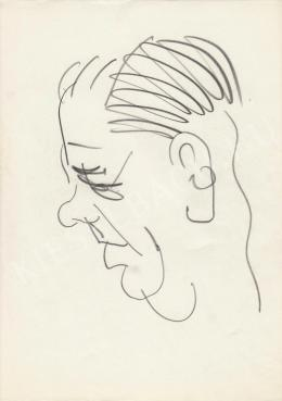 Rózsahegyi, György - Portrait of László Tabi Editor, Humorist, Editor