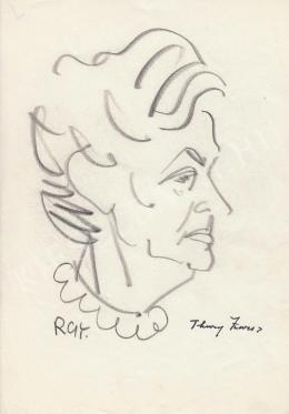 Rózsahegyi György - Thury Zsuzsa író portréja