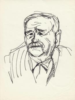 Rózsahegyi, György - Portrait of Péter Veres Writer, Politician (1970s)