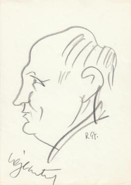 Rózsahegyi György - Végh Antal író portréja