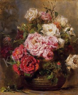 Dolányi Benczúr Ida - Csendélet rózsákkal