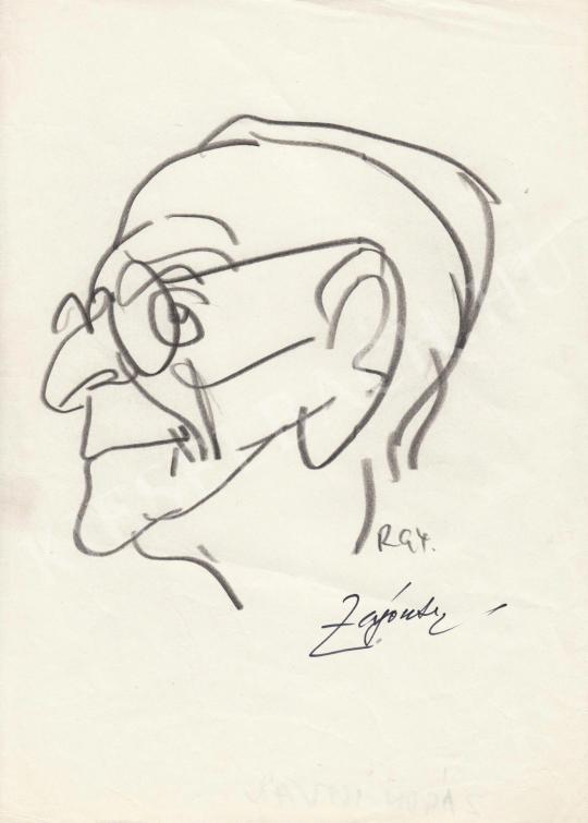 Eladó  Rózsahegyi György - Zágon István humorista portréja festménye