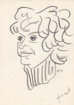 Rózsahegyi György - Fencsik Flóra író portréja