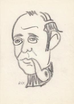 Rózsahegyi, György - Portrait of István Kállai Writer, Playreader, Humorist (1970s)