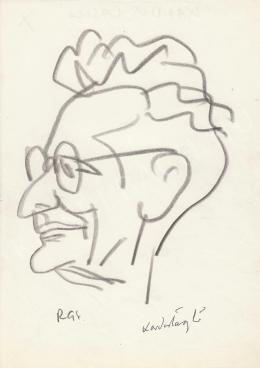 Rózsahegyi, György - Portrait of László Kardos Critic