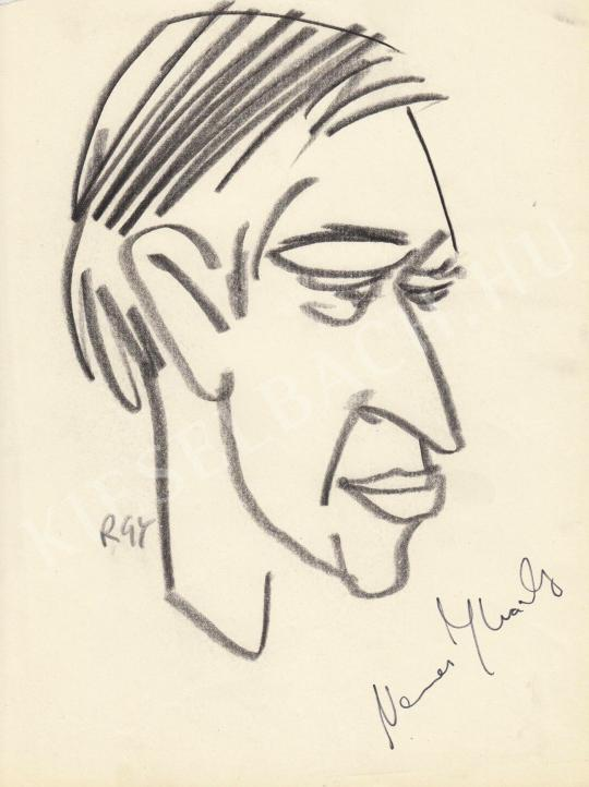 Eladó  Rózsahegyi György - Nemes Károly filmkritikus portréja festménye