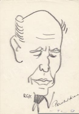 Rózsahegyi György - Pesold Ferenc író portréja (1970-es évek)