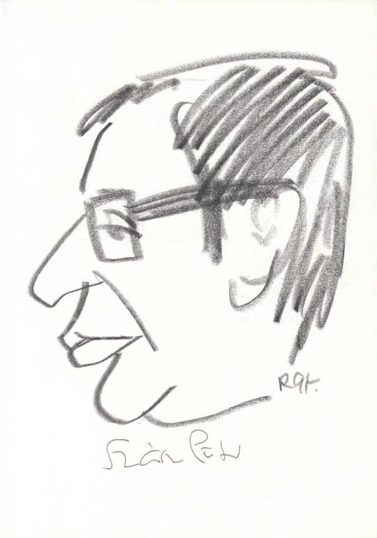 Eladó  Rózsahegyi György - Szász Péter dramaturg, forgatókönyvíró, rendező, kritikus portréja festménye