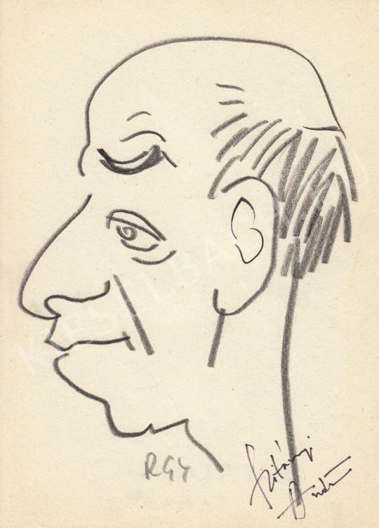 For sale  Rózsahegyi, György - Portrait of András Szitányi Director 's painting
