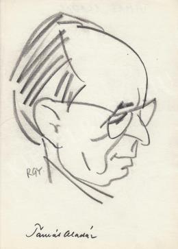 Rózsahegyi György - Tamás Aladár író portréja