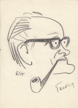 Rózsahegyi, György - Portrait of an Unidentified Hungarian Critic (1970s)