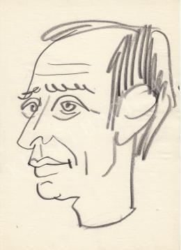 Rózsahegyi, György - Portrait of József Varga Newscaster