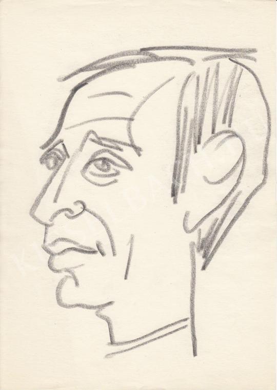 Eladó  Rózsahegyi György - Varga József bemondó portréja festménye