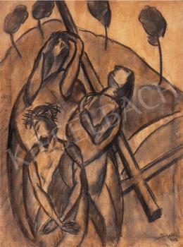 Schadl János - Krisztus a keresztnél ( Jelenet)