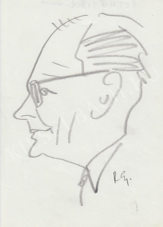 Eladó  Rózsahegyi György - Pethő Tibor újságíró portréja festménye