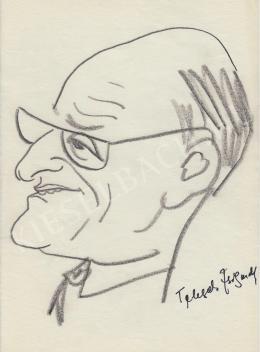 Rózsahegyi György - Telegdi Zsigmond nyelvész portréja