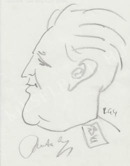 Rózsahegyi György - Uszta Gyula erdész, katonatiszt portréja (1970-as évek)