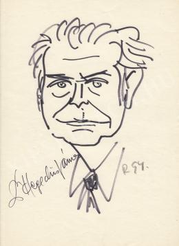 Rózsahegyi György - dr. Hegedűs János mérnöktanár portréja