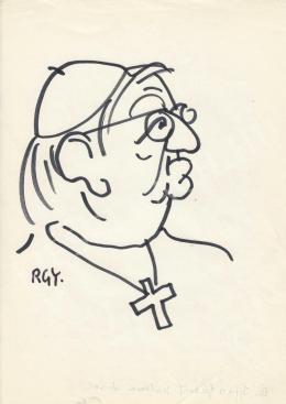 Rózsahegyi György - dr. Ijjas József érsek portréja (1970-es évek)