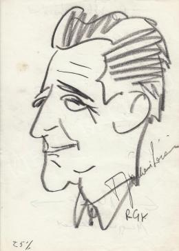 Rózsahegyi György - dr. Jókai Lóránd jogász, író portréja (1970-es évek)