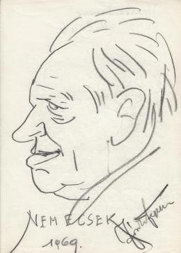 Rózsahegyi György - Jezsek-Józsika Ferenc (ál-Nemecsek) portréja