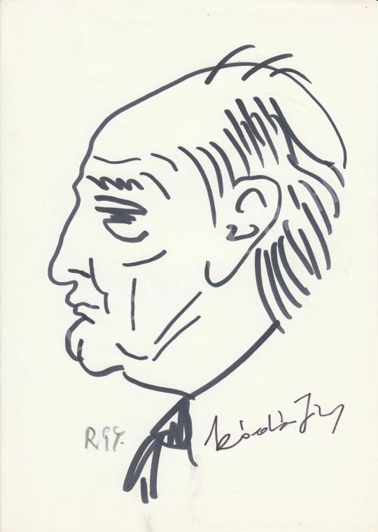 Eladó  Rózsahegyi György - Kádár János politikus portréja festménye