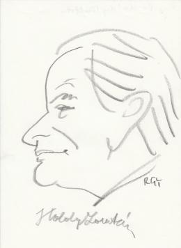Rózsahegyi György - dr. Káldy Zoltán lelkész, esperes, püspök portréja