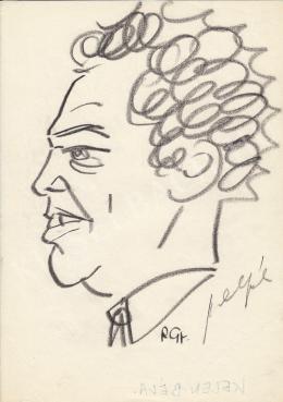 Rózsahegyi, György - Portrait of Béla Kelen Editor in Chief of Esti Hírlap