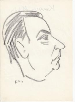 Rózsahegyi György - Korom Mihály politikus portréja (1970-es évek)