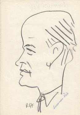 Rózsahegyi György - Losonczi Pál politikus portréja (1970-es évek)