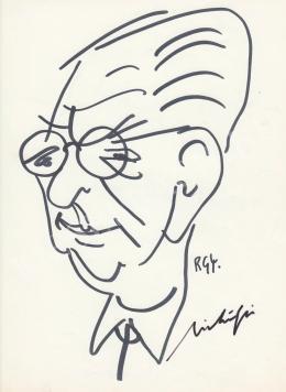Rózsahegyi, György - Portrait of Ernő Mihályfi dr. Journalist, Minister
