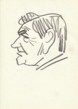 Rózsahegyi György - Molnár Frigyes író portréja