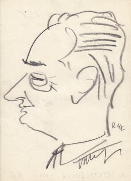 Rózsahegyi, György - Portrait of  Gyula Ortutay dr. Etnography searcher, Politician