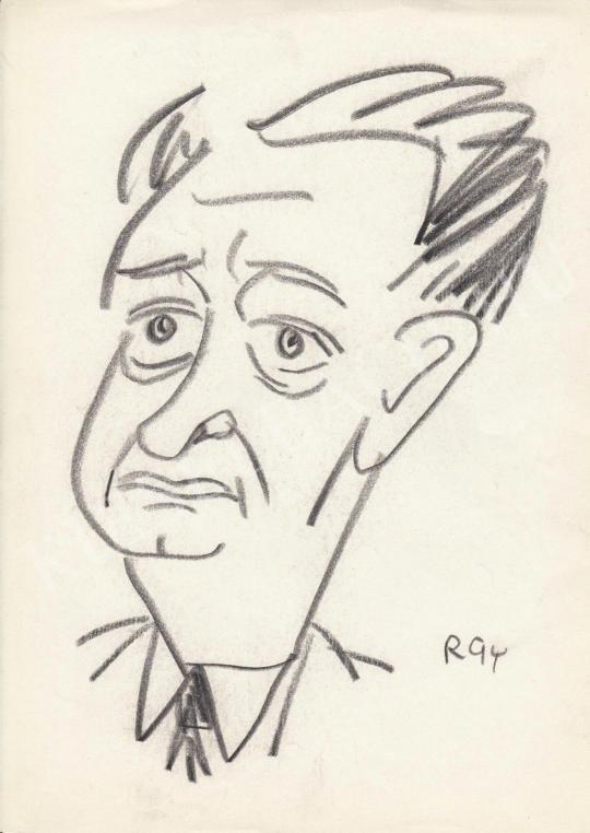 Eladó  Rózsahegyi György - dr. Ortutay Gyula néprajzkutató, politikus portréja festménye