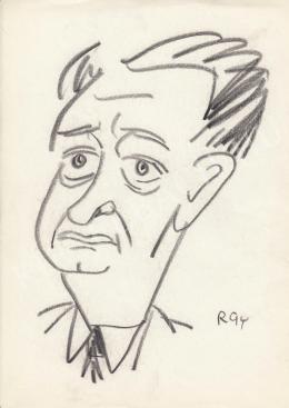 Rózsahegyi György - dr. Ortutay Gyula néprajzkutató, politikus portréja (1970-es évek)