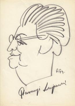 Rózsahegyi György - Parragi Lajosné politikus portréja