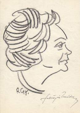 Rózsahegyi György - Sebestyén Nándorné politikus portréja (1960-as évek)