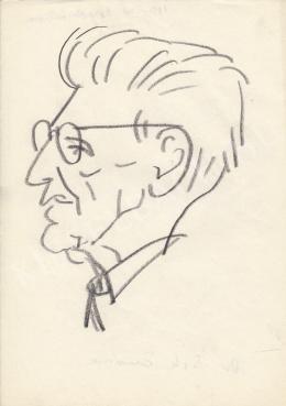 Rózsahegyi György - dr. Sik Endre író, jogász, politikus portréja (1960-as évek)
