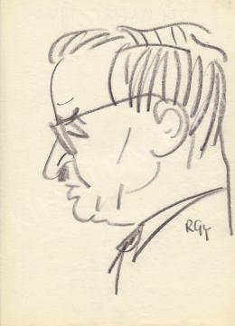 Rózsahegyi György - Sümegi János belgyógyász portréja (1960-as évek)