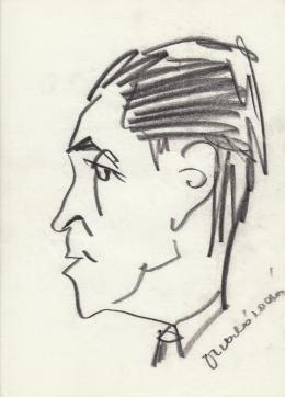 Rózsahegyi György - Szabó Zoltán író portréja