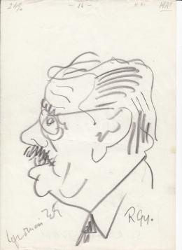 Rózsahegyi György - Szirmai István politikus portréja (1960-as évek)