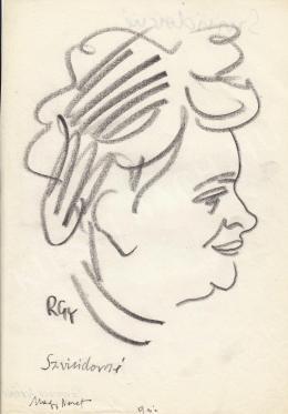 Rózsahegyi, György - Portrait of Ivánné Szviridov Economist